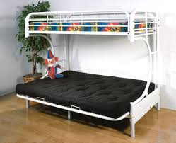 Futon Bunk Bed Frame Only Bunk Beds Futon Bunk Bed Frame Only C Style White Finish