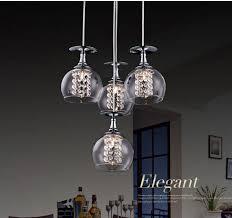 Pendant Lighting Glass Shades Modern G4 Glass Shade Crystal Pendant Lights Restaurant Pendant