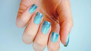 prom nails perfect glitter ombre diy
