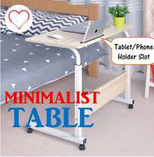 adjustable movable laptop table qoo10 minimalist computer laptop table stylist height adjustable