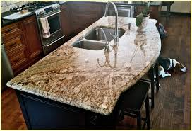 Kitchen Island Granite Countertop Granite Countertop Cream Colored Painted Kitchen Cabinets Santa