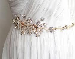 wedding dress belt etsy