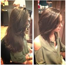 haircuts forward hair before and after chopped long hair to short hair diagonal
