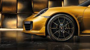 gold porsche 911 porsche s 911 turbo s spreads its gold plated wings as the 911