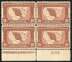 Louisiana Purchase Map by Us Stamp Value Scott Catalogue 327 10c 1904 Louisiana Purchase