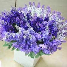 wedding flowers lavender 1 bunch silk flower wedding bouquet lavender artificial flowers