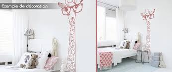 chambre la girafe stickers girafe à lunettes chambre enfant