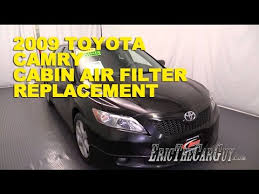 2011 toyota camry change interval 2006 2011 toyota camry cabin air filter replacement ericthecarguy
