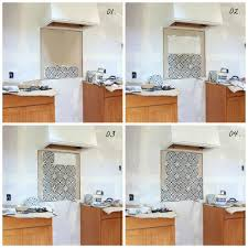 how to do tile backsplash in kitchen a cement tile backsplash in the kitchen the grit and