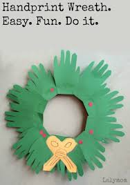 Kid Crafts For Christmas - christmas crafts for kids handprint wreaths lalymom