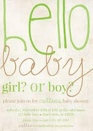 hello baby gender reveal baby shower invitations from box