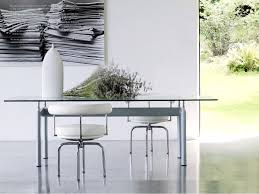 Esszimmerst Le Mit Leder Cassina Lc7 Drehstuhl Von Le Corbusier Pierre Jeanneret