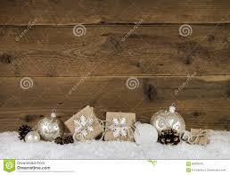 country style christmas decoration in brown and white colors wit