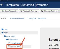 how to simplify the joomla registration form joomlashack