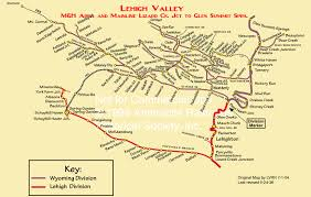 Pennsylvania Railroad Map by Lehigh Valley Railroad Maps Lehigh Valley Railroad Modeler