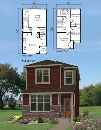 narrow lot 2 story house plans house plans narrow lot one story walkout basement best with front