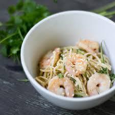 spicy shrimp noodle salad recipe kitchenbowl