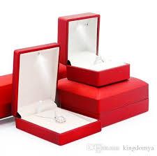 jewelry necklace boxes images Fashion led light jewelry box ring necklace bracelet pendant box jpg