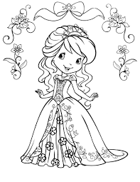 strawberry shortcake coloring pages 1873