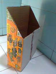 cara membuat lemari buku dari kardus bekas mari