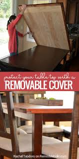 Dining Room Table Top How To Build A Removable Planked Table Top Cover Remodelaholic