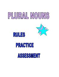 plural nouns packet by ruth s teachers pay teachers