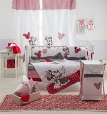 Mickey And Minnie Crib Bedding Disney Minnie Mouse 4 Crib Bedding Set Unisex Crib