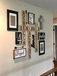 Appealing Letter K Wall Decor Scrabble Family Wall Display Vintage Decor That I U0027m Loving
