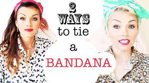 how to wear bandanas with bob hairstyles how to tie a bandana 2 ways in your hair kandee johnson youtube