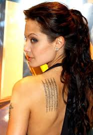 celebrity angelina jolie tattoos designs