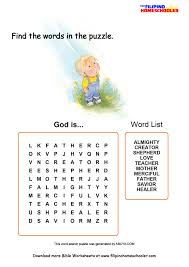 who is god learning activity the filipino homeschooler