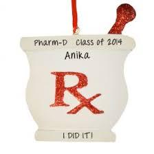 pharmacy school graduation mortar pestle ornament personalized