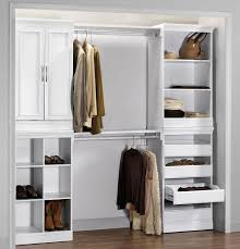 shared closet storage systems with husband mahogany wood design