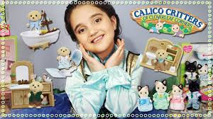 Calico Critters Bathroom Set Calico Critters Cat Dog Families U0026 Bathroom Set Unboxing Review