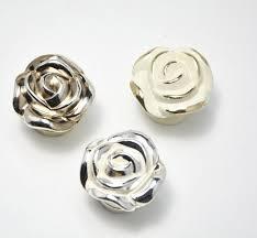 rose flower home door cupboard pull handle cabinet drawer knobs