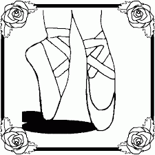 ballet slippers coloring pages tattoo coloring
