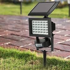 outdoor flood light stake 30leds solar powered lawn light outdoor security floodlight pir