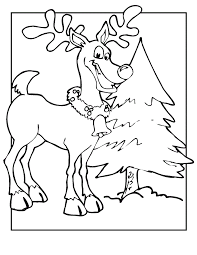reindeer coloring pages coloring kids