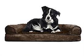 Plush Sofa Bed Amazon Com Furhaven Large Plush U0026 Suede Orthopedic Sofa Pet Bed