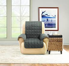 sure fit reclining sofa slipcover amazon com sure fit ultimate waterproof quilted throw recliner