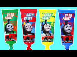 thomas the tank engine bath paint learn colors with thomas