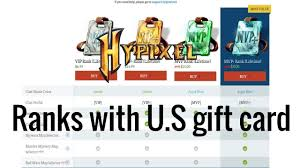 buy a gift card how to buy a rank on hypixel with a gift card