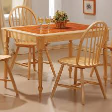 Tile Top Dining Tables Furniture 20 Glamorous Pictures Classic Wooden Kitchen Table
