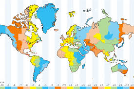 us map divided by time zones how many time zones in the world