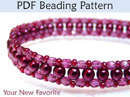 necklace beaded pattern images Beadweaving tutorials choker necklace jewelry beading patterns 37263