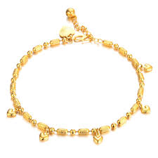 gold ankle bracelet with hearts images 7seas korean fashion gold color anklet heart bell pendant ankle jpg