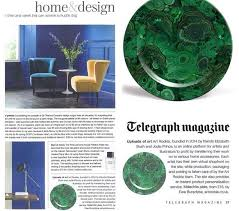 period homes and interiors magazine malachite plate feature in telegraph and period homes interiors