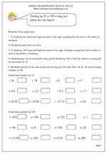 maths worksheet divide decimals by 10 or 100 maths blog