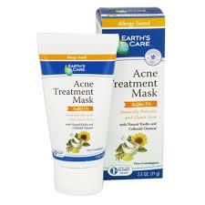 earths care acne treatment mask sulfur 5 2 5 oz