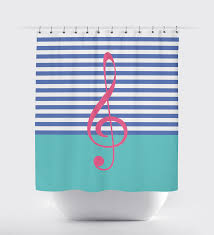 Pale Pink Bathroom Accessories by Custom Music Themed Shower Curtain For Kids And Teens U2013 Shop